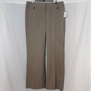 NWT - Fashion Bug tan thin striped dress pants